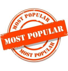 Orange most popular tag stamp vector image vector image