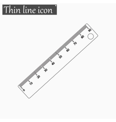 Ruler icon Style thin line vector image
