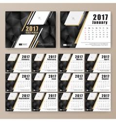 12 month desk calendar template vector