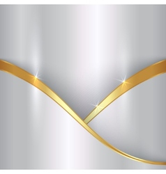 Abstract precious metallic background with curvess vector