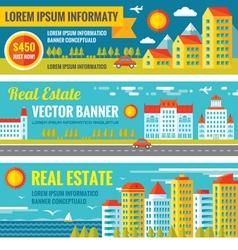 Architecture - Real estate - creative banne vector image