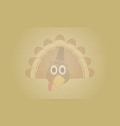 Background thanksgiving with turkey collection vector