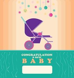 banew born greeting card vector image