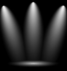 black empty photo studio vector image vector image