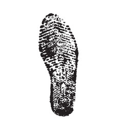 black foot print silhouette vector image