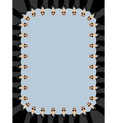 Bodyguards Frame of peoples Security service vector