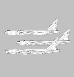 boeing b-52 stratofortress vector image