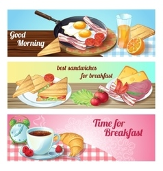 Breakfast Banner Set vector
