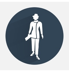 Businesswoman icon Office worker symbol Standing vector image