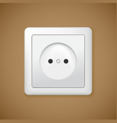 Closeup of electrical outlet vector image