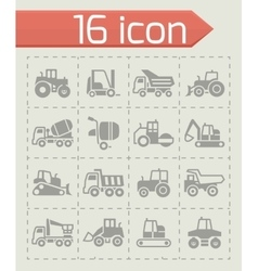 Construction transport icon set vector image vector image