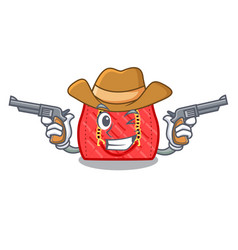 Cowboy quilted bag isolated on a mascot vector