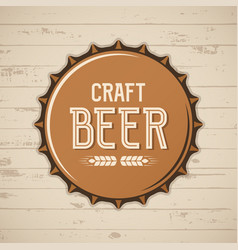 Craft beer bottle cap brewery logo emblem vector