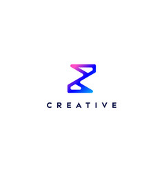 Creative logo letter z with a gradient color vector