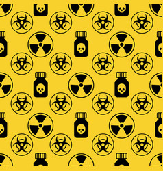 danger seamless pattern on yellow background vector image vector image