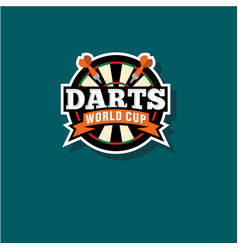 darts world cup emblem vector image