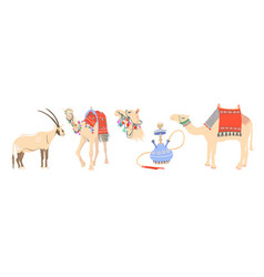 Desert symbols arab emirates - arabian oryx vector