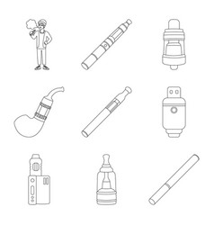 Design nicotine and filter sign vector