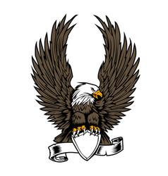 Eagle wing ribbon hawk vector