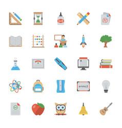 Education flat icons set vector