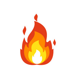 fire flame icon isolated bonfire sign emoticon vector image