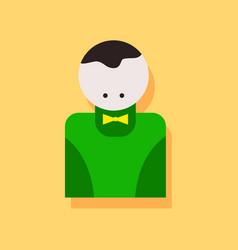 Flat icon design collection casino delar vector