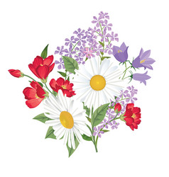 Flower bouquet floral frame flourish greeting vector