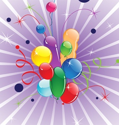 Flying balloons vector