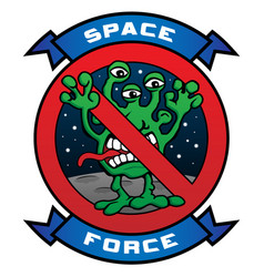 funny space force alien cartoon vector image