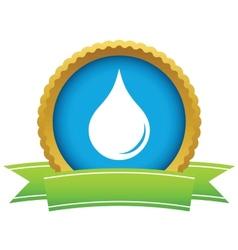 Gold drop logo vector