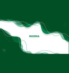 Green abstract background design nigeria vector