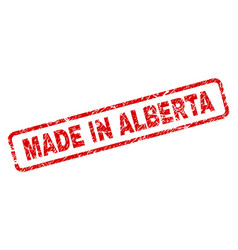 Grunge made in alberta rounded rectangle stamp vector