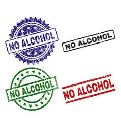 Grunge textured no alcohol stamp seals vector