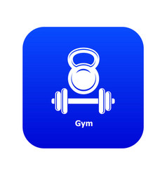 Gym metall icon blue vector