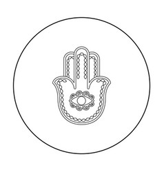 hamsa icon in outline style isolated on white vector image vector image