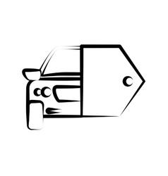 hand drawing car key sketch vector image