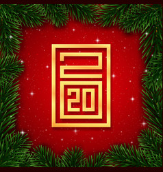 happy new year 2020 background banner vector image