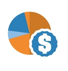 Infographic cake and money icon design vector