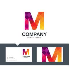 letter m - logo design vector image