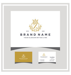 Letter z attorney shield logo design and business vector