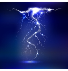 Lightning - isolated on blue background vector