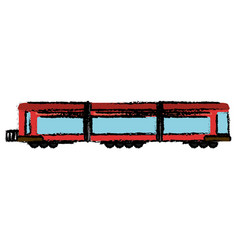 Locomotive train transport passenger vector