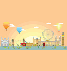 london skyline 4 vector image