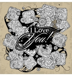 Love theme greeting card vector