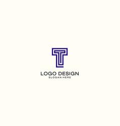 monogram letter t business company logo design vector image