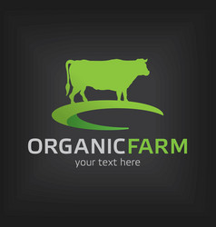 Organic farm design template poster vector