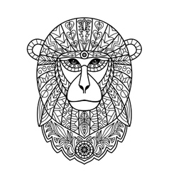 Ornamental White Monkey vector