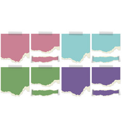Paper template in four colors vector