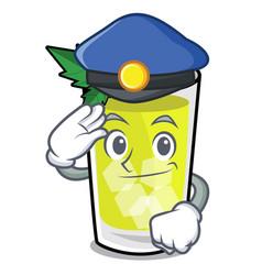 police mint julep character cartoon vector image