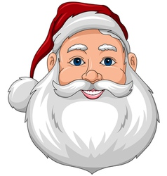 Santa Happy Face Front vector image